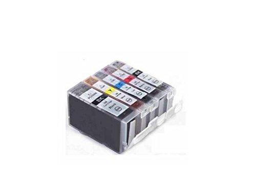 C63® - CLI8 / PGI5 [MET CHIP] - Multipack. Volledige set van 5 Canon compatibele printer inktcartridges voor Canon Pixma MP500, MP530, MP600, MP600R, MP610, MP800, MP800R