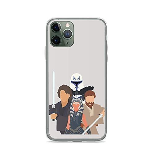 Clear TPU Phone Case Clone Wars Compatible with iPhone 12 12 Pro MAX Mini 11 11 Pro MAX X/XS XR Se 2020/7/8 Plus 6 6s Plus Samsung Galaxy