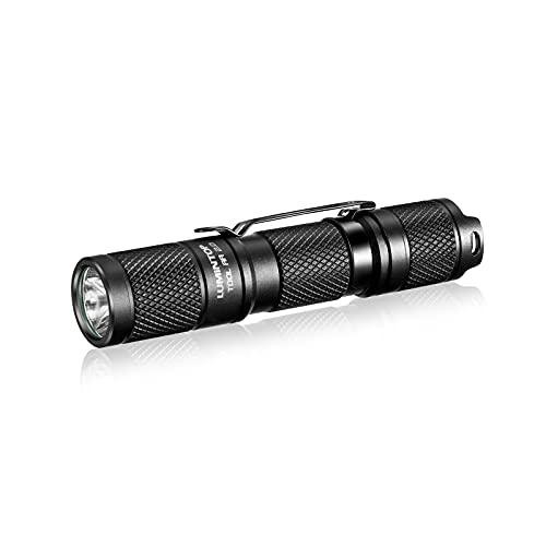 Pocket Flashlight AA Flashlight 14500 Flashlight Tool AA2.0 650 Lumens EDC Flashlight 5 Modes LED Flashlight with Mode Memory Portable IPX-8 Waterproof Light (No Tail Light)