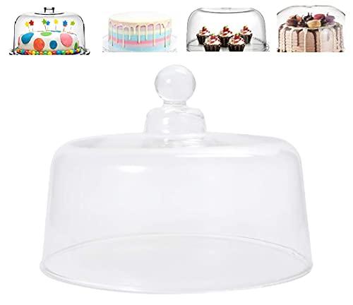 UPKOCH - Tapa de soporte para tartas de cristal, desierto, campana postre,...