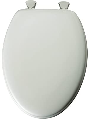 Mayfair Cover Companion Molded Wood Toilet Seat, Round, White, 44COCO