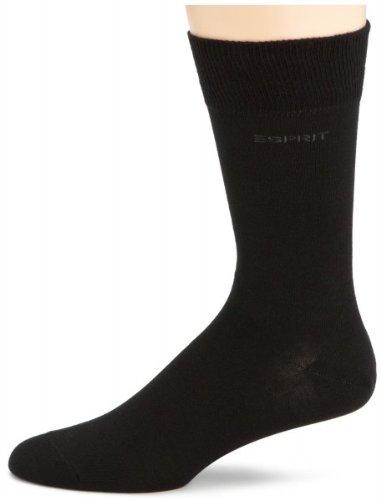 Esprit Men Socks Set 4 paires de chaussettes plaine avec logo - Noir: : 39-42