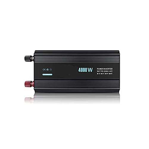 QWERTOUR Inversor de Coche 4000W 24V 220V Transformador de Voltaje Modificado Onda de la Onda sinusoidal DC12V a 220V Converter + Smart LCD Pantalla,4000w