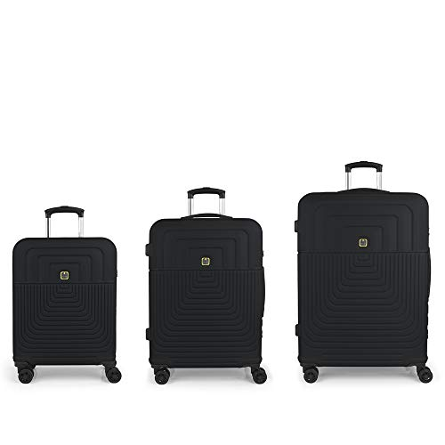 Gabol - Ego | Rigid Suitcase Set with Three Grey Suitcases with Cabin Suitcase, Medium Trolley and Large Trolley