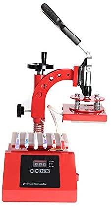HYCy Máquina de rotulación térmica de Transferencia térmica, rotación de 360 Grados, Cabezal de Sacudida Manual, máquina de rotulación de impresión, Transferencia térmica, impresión p