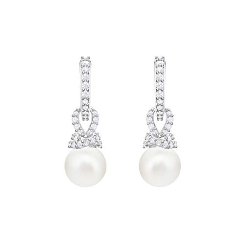 Swarovski Pendientes Originally, Blanco, Baño de Rodio