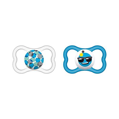 MAM 66218811 - Ciuccio in Silicone per Bambini dai 6 ai 16 mesi, Confezione Doppia,colori assortiti – Istruzioni in lingua straniera