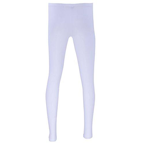 YiZYiF Homme Pantalon de Sport Collant Bas de Contention Transparent Pantalon de Compression Legging Sport Fitness Gymnastique (M, Blanc)