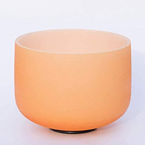HUYP Tazón de Cuenco de Cuenco de Cuenco de Cristal de Cuarzo Esmerilado Maleta incluida Meditación de relajación, 12 Pulgadas