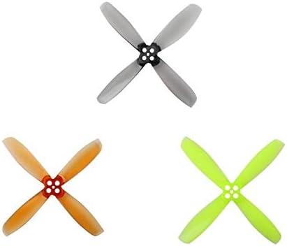 HongYi h/élice 8Pairs 16PCS Gemfan RotorX 2535 2,5 pulgadas 2-Blade for 4-pala de la h/élice CW CCW for RC Drone FPV Racing de motor sin escobillas Accesorios avi/ón no tripulado Color : 4Pairs Black