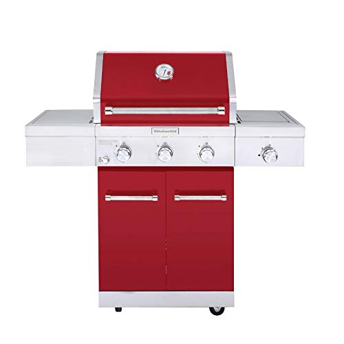 KitchenAid 720-0953D Propane Gas Grill, Red + Stainless Steel Grills Propane