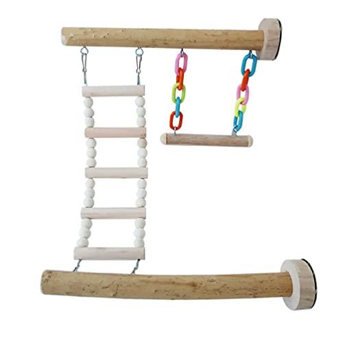 YU-HELLO Soporte para Percha para pájaros Juguete para Loros Columpio Escalera para Escalar jaulas para Juegos gimnasios Parques Infantiles Juguetes para pájaros Juguetes para Loros Juguetes para