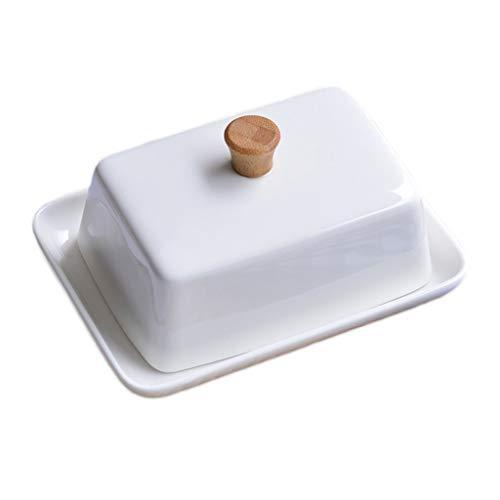Zongshengshop Mantequillera Pure White Ceramic Sushi pequeñ
