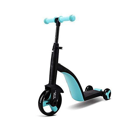 LABYSJ Scooter de 3 Ruedas con Asiento ExtraíBle, Ruedas y Scooter para NiñOs con Manillar Ajustable, Plegable a 180 ° y Modos de 3 Velocidades, Scooters para NiñOs Y NiñAs
