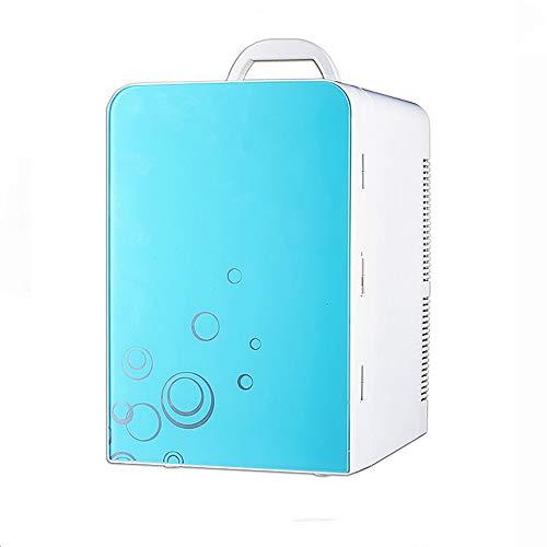 JOMSK Refrigerador portátil Enfriador y Calentador eléctrico de 20 litros Mini refrigeración termoeléctrica Dual Calentamiento Refrigerador Electrico (Color : Blue, Size : 27.5 * 26 * 40cm)