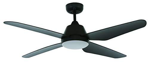 LUCCI AIR Airfusion Aria Deckenventilator mit 4 Flügeln, 122 cm Durchmesser, 3 Speeds, Timer, Sommer/Winter, inkl. LED Licht