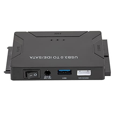 bulingbuling USB 3.0 al Adaptador del convertidor de Disco Duro SATA con Interruptor de Encendido Durante 2,5 3,5 Pulgadas SATA/IDE Disco Duro SSD Discos Negros Discos