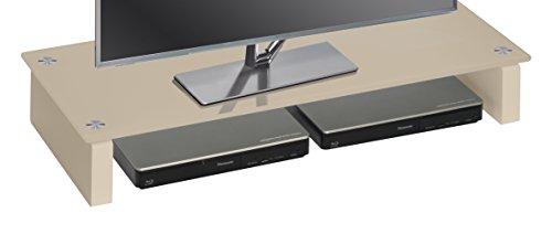 MAJA Möbel 1606 TV-meubel glas zand, afmetingen (B x H x D): 60 x 12,20 x 27,60 cm modern 82 x 35 x 12,20 cm Glas zand