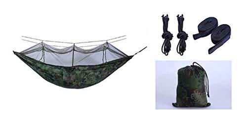 Bug Voyage Net Camping Hammock   300 kg Capacité de Charge, (260 x 140 cm) Respirant, Parachute séchage Rapide en Nylon   pour l'extérieur Jardin intérieur