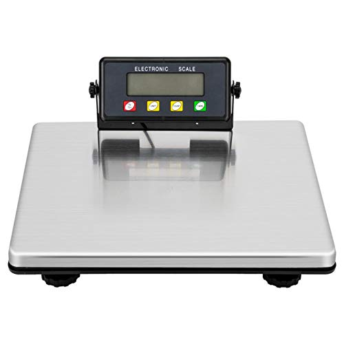 200kg/441lbs Heavy Duty LCD Digital Postal Scale,Industrial Shipping Weighing Scales,Stainless Steel Platform Postal Shipping Postage Parcel Scales for Busniess Office Home Warehouse Package Lugggage