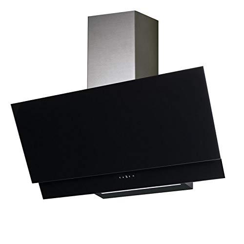 Allcata VALIO 600 XGBK Dunstabzugshaube 60cm kopffrei schwarz Glas 6 Leistungsstufen mit Nachlaufautomatik LED-Beleuchtung 44 dB(A) bis 900 m³/h