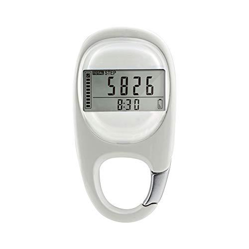 BEAUTYBIGBANG Schrittzähler Clip Ohne App und Handy Einfache Pedometer Bedienung Testsieger Step Zählen Schrittzähler Entfernung Kalorie 3D Lautlos Induktion Tragbar für Fitness
