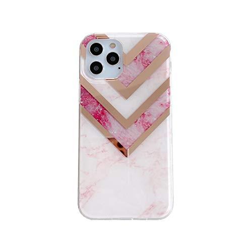 Hopereo para Apple para iPhone 12 11Pro Max caso mármol teléfono cubierta completa I X Xr Xs Max 8 7 6S 6 Plus Back se 2 2020 casos chapado coque-4-para iPhone 6 Plus