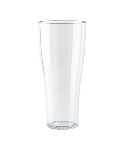 WACA® 1753-700 Weißbierbecher Kunststoffbecher 0,5l ∅ 80 mm stapelbar mit Füllstrich glasklar