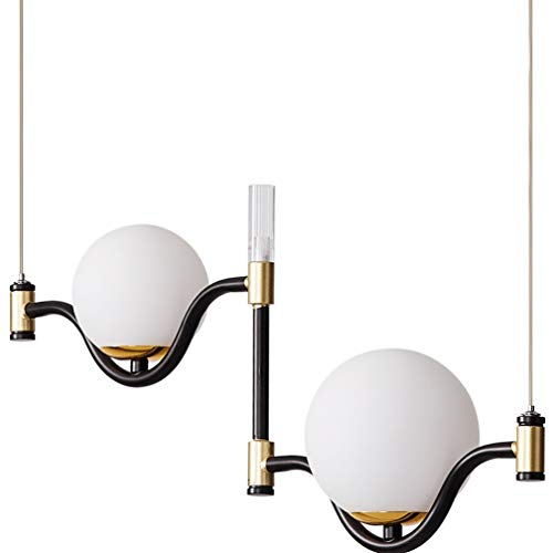 ZZT Lámpara Colgante Moderna Creativa G9 LED Bombilla Lámpara Colgante Lámpara Industrial Lámpara de Hierro posmoderno Lámpara de cuelga de Vidrio Lámpara de Pelota Pendel,6000k