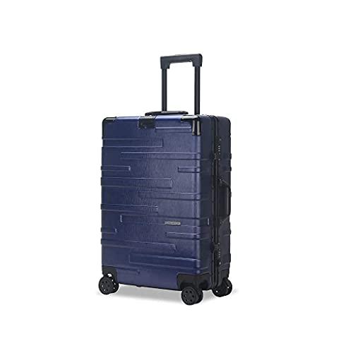 QIXIAOCYB Maleta portátil/maleta de equipaje con gran capacidad, juegos de maletas, equipaje de mano, transporte a mano, 22 pulgadas, código de mercancía: LWH-47 (color: rosa) (color: azul)