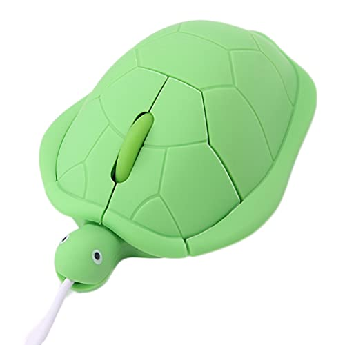 ACGTH Ratones Lindo Animal con Cable Ratón USB3 D Turtle Ratones ópticos 1000 dpi Mouse para computadora PC Mini Aseurtle Silicone Gaming Mouse (Color : Green)