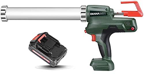 DIANAMIX Sausage Caulking Gun with Li-Battery,20V Automatic Cordless Caulking Gun,Adhesive Gun,20oz/600ml,with Charger
