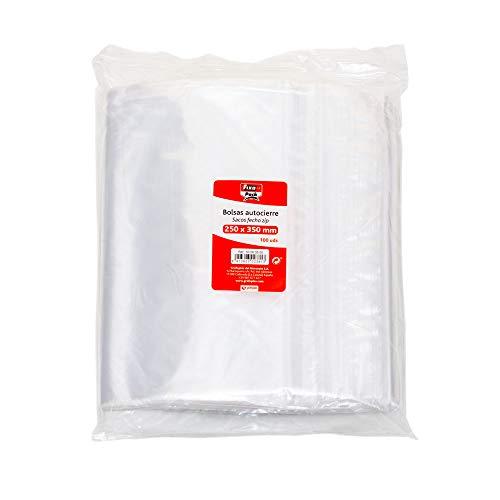 Fixo Pack 50063900-Pack de 100 bolsas autocierre, 230 x 32
