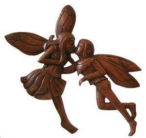 Windalf Wandbild ELFENLIEBE b: 33 cm Handarbeit aus Holz