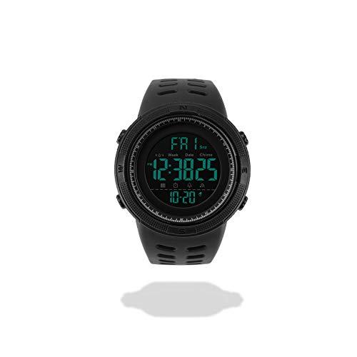 DAUERHAFT Reloj de Pulsera Deportivo para Hombre de 2 Colores, Resistente al Agua, Reloj Redondo Digital con luz Trasera para Hombre, para Deportes, Viajes u Otras Ocasiones(Negro)