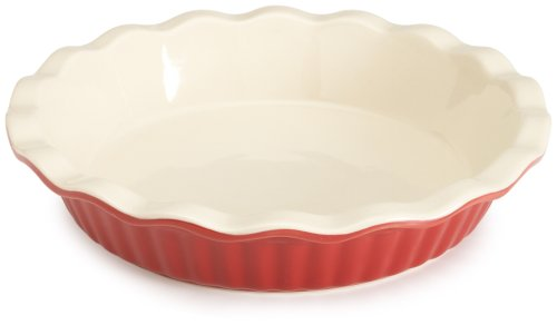 Good Cook Bradshaw International 04412 9′ RED Ceram Pie Plate