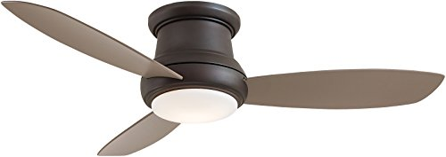 Minka-Aire Concept II Ceiling Fan with Integrated Light, Flush Mount 3 Blade 52', F519-ORB (Oil Rubbed Bronze Finish)