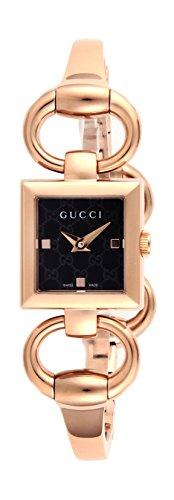 [グッチ] 腕時計 トルナヴォー二 ブラック文字盤 YA120521 並行輸入品 ゴールド