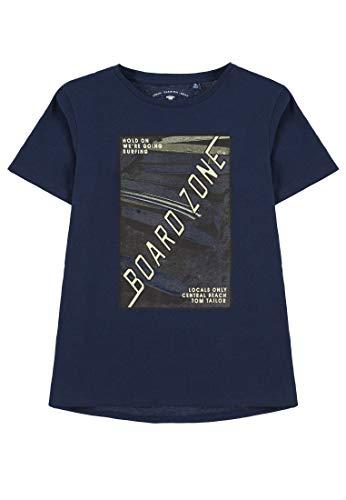 TOM TAILOR Jungen T-Shirts/Tops T-Shirt mit Print Dress Blue|Blue,164