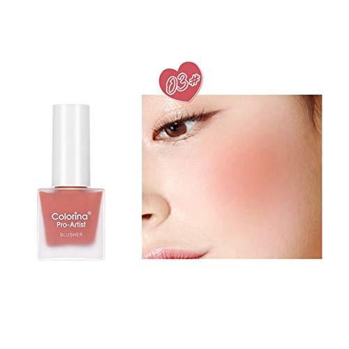 ARTIFUN 6 Color New Blushes Líquidos Larga Duración Aclarar Color De La Piel Colorete A Prueba De Agua Fácil De Colorear Maquillaje Para La Cara, 10 Ml