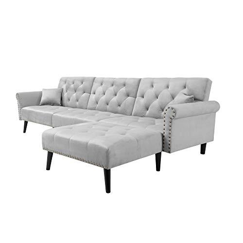 LZZJ La Entrega totaliza por Completo 3-7 días funcionales, Sofá Cama de sofá Cama con Convertible. (Color : Gray)