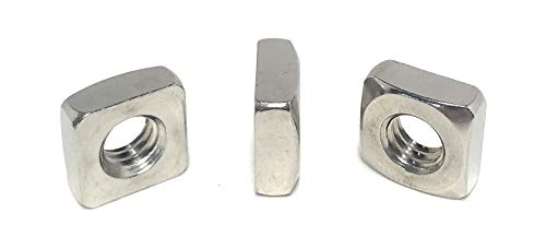 5/16-18 Stainless Steel Square Nuts 18-8 (20 Pcs)