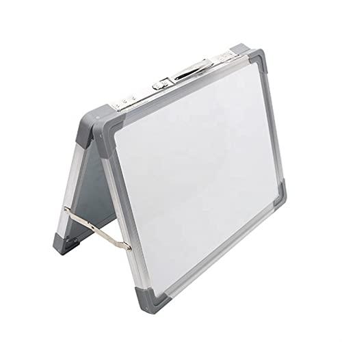 12 * 16 Pulgadas magnética Borrar Tabla, Escritorio Borrar Plegable Whiteboard Dibujo portátil Tablero de Mensajes con bolígrafo Marcador Botones magnéticos by ROYAL STAR TY (Color : White)