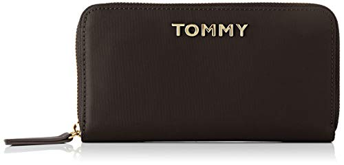Tommy Hilfiger Damen Th Nylon Lrg Za Wallet Geldbörse, Schwarz (Black), 2x10x19 centimeters