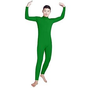 Shinningstar Boys' Men's Zentai Unitard Spandex Turtleneck Long Sleeve Dancewear Bodysuit