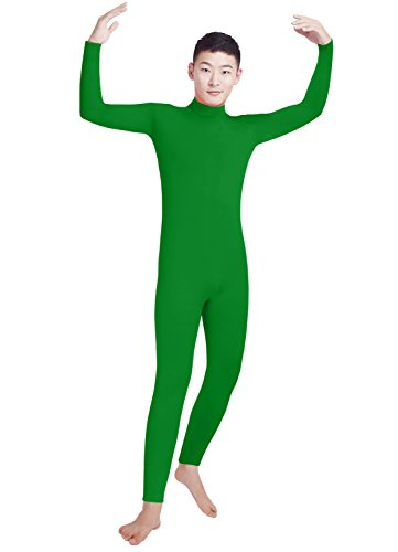 Shinningstar Boys' Men's Zentai Unitard Spandex Turtleneck Long Sleeve Dancewear Bodysuit
