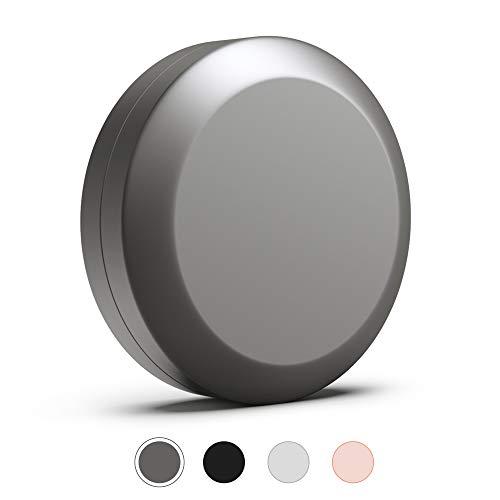 JCASE Stabile Stash Metall Dose I Luftdicht I Wasserdicht I ø55x23mm I UV Licht geschützte Box für Pillen, Kräuter und Gewürze (Grey)