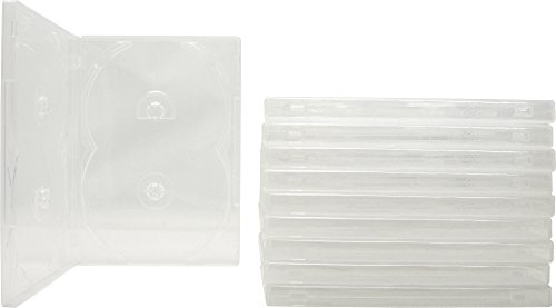 Square Deal Recordings & Supplies (10) Clear Quad 4-Disc Overlap Style DVD Cases/Boxes - DV4R14CL
