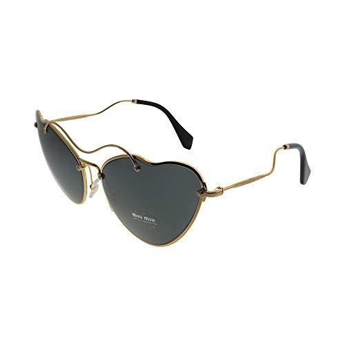 Miu Miu MU55RS 7OE1A1 Gold MU55RS Cats Eyes Sunglasses Lens Category 3 Size 65m