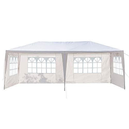 Zokop Party Tent 20x10ft Four Sides Portable Home Use Waterproof Tent with Spiral Tubes Outdoor